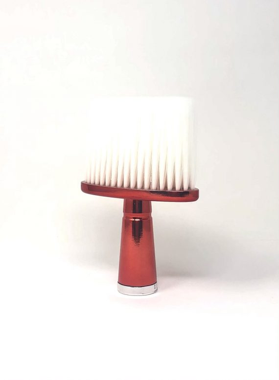 Red T- wide neck duster with soft bristles
