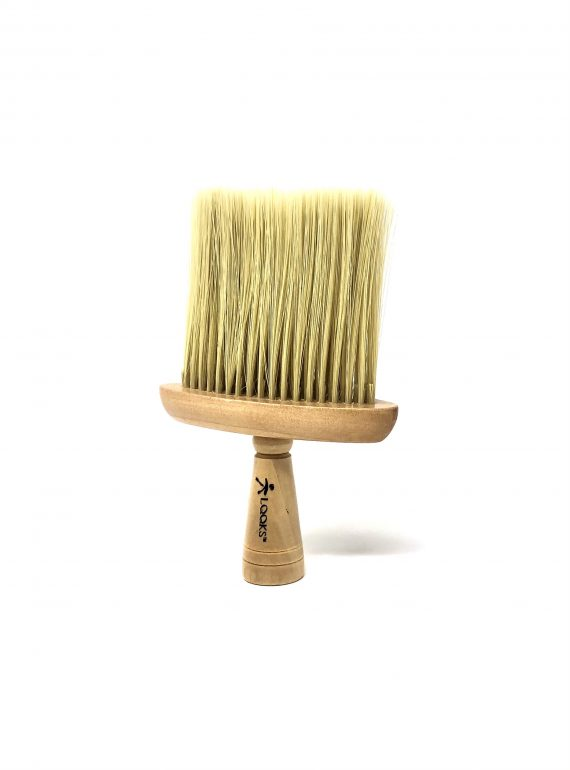 looks wide neck duster - wood handel & soft bristles #7190