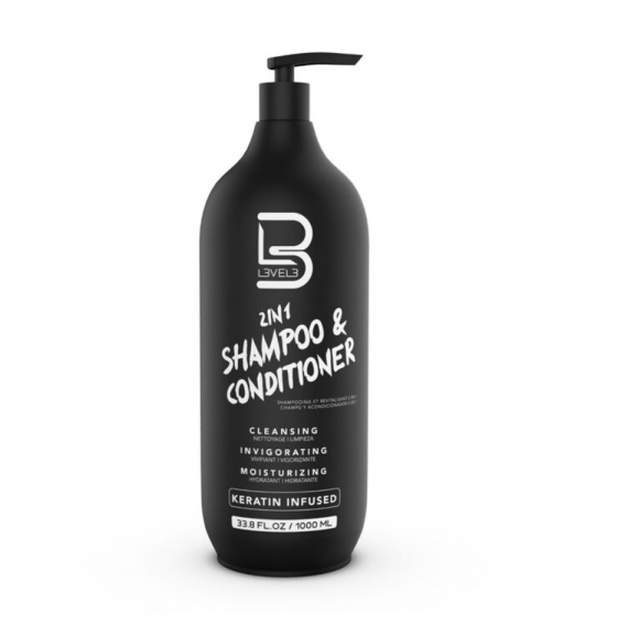 L3VEL3™ 2 IN 1 Shampoo & Conditioner 1000 ml