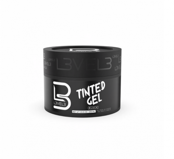 L3VEL3™ Tinted Hair Gel - Black Color 250 ml