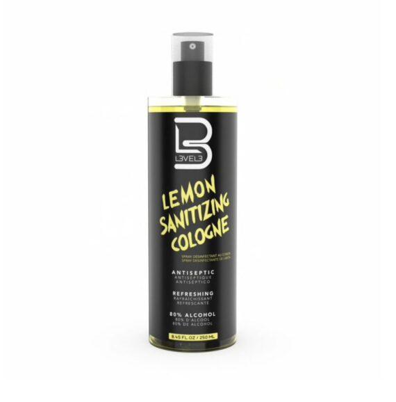 L3VEL3™ Lemon Sanitizing Cologne 250 ml
