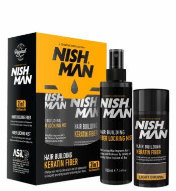 NISHMAN Hair Building Keratin Fibers with Locking mist 2 in 1 beauty kit - 21g / 0.74 oz