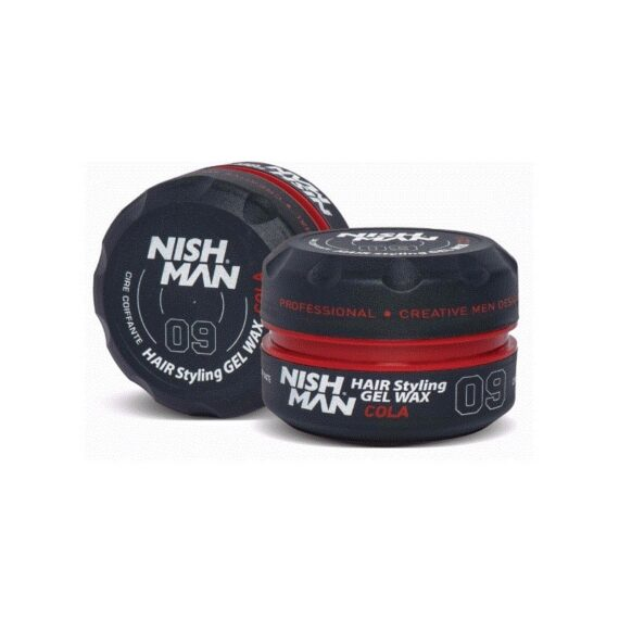 NISHMAN Hair Styling Gel Wax 09 Cola 150 ml