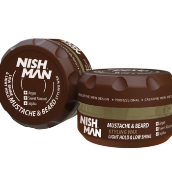 NISHMAN Mustache & Beard Styling Wax light hold & low shine 100 ml
