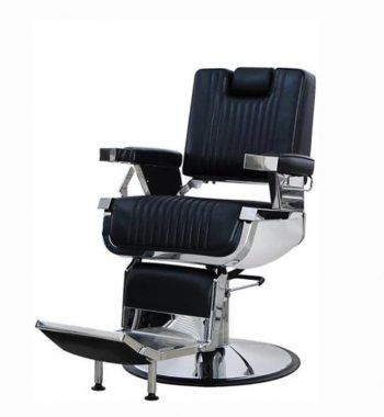 K-CONCEPT Lincoln Barber Chair Hidden Headrest - Black #OZBC20.2