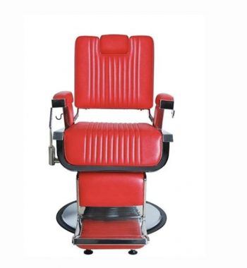 K-CONCEPT Lincoln Barber Chair Hidden Headrest - Red #OZBC20.2