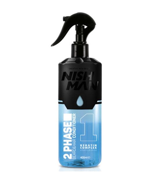 NISHMAN 2 Phase Beard & Hair Conditioner with Karatin 400 ml