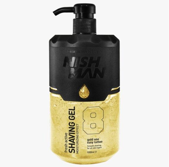 NISHMAN Fresh Active Shaving Gel Gold one #8 1000 ml
