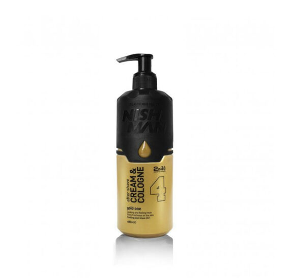 NISHMAN After Shave Cream Cologne 4 Gold One 400 ml