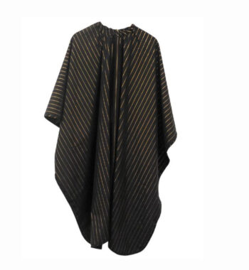 Barber Strong barber Cape Black with Gold Pinstripe