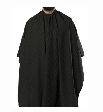 Barber Strong barber Cape Black with white Pinstripe