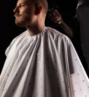 Barber Strong barber Cape 24k - white gold