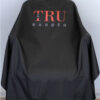 TRUBARBER PROFESSIONAL BARBER CAPE – Black With Red Letters