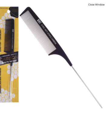 Beaut Anti-static carbon comb with metal pin tail 61853