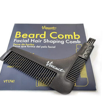 Vincent VT1741 beard comb - facial hair shaping