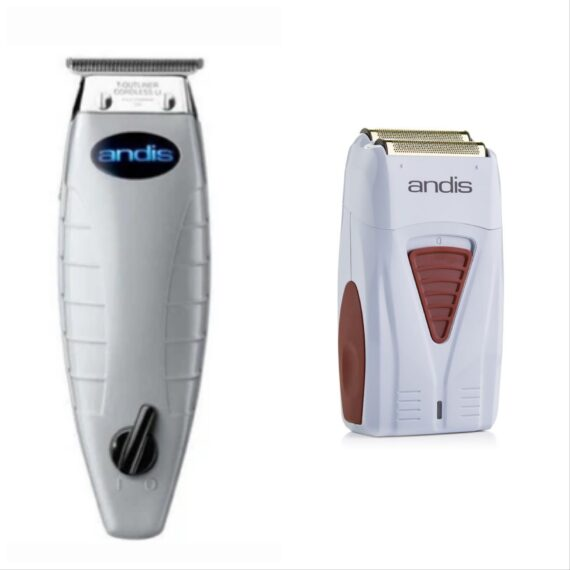 Andis 2pc Cordless Combo c by ibs - Cordless T-Outliner, Cordless Foil Shaver