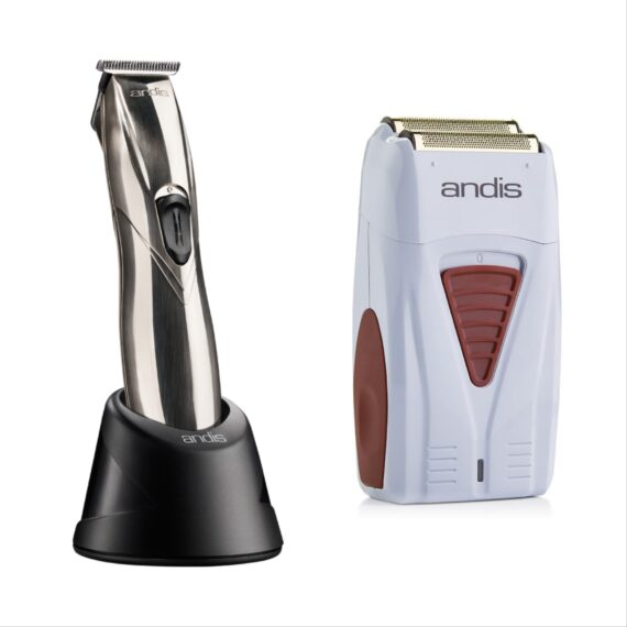 Andis 2pc Cordless Combo c by ibs - Cordless Slimline silver, Cordless Foil Shaver