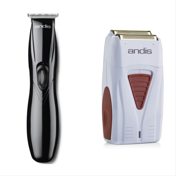 Andis 2pc Cordless Combo c by ibs - Cordless Slimline black, Cordless Foil Shaver