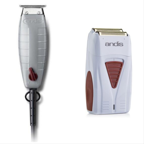 Andis 2pc Combo cd by ibs - Corded T-Outliner, Cordless Foil Shaver