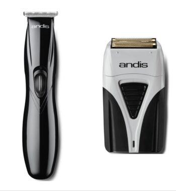 Andis 2pc Cordless Combo cbe by ibs - Cordless Slimline black, Cordless Plus Foil Shaver