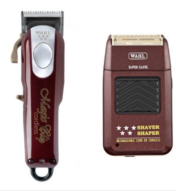 Wahl Pro 2pc Combo by ibs - Magic clip Cordless, 5 Star Foil Shaver