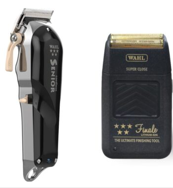 Wahl Pro 2pc Combo by ibs - 5 Star Senior Cordless, Finale Foil Shaver