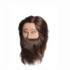 CELEBRITY MALE MANNEQUIN %100 HUMAN HAIR BROWN WITH BEARD