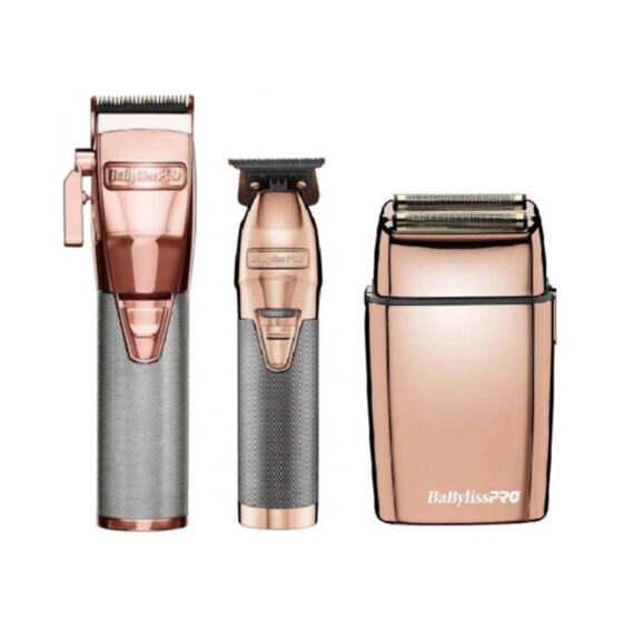 Babylisspro 3pc RoseGoldFX Combo by IBS - FX Clipper, FX Trimmer, FX Shaver
