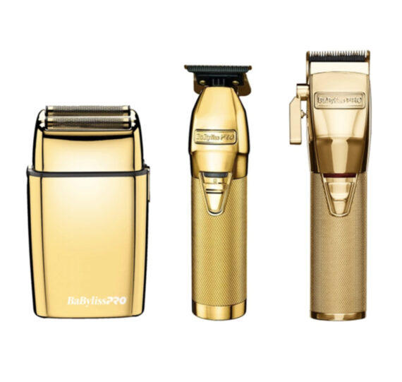 Babylisspro 3pc GoldFX Combo by IBS - FX Clipper, FX Trimmer, FX Shaver