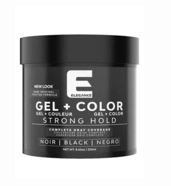 ELEGANCE PLUS GEL + Color Strong hold Black 8.45 oz