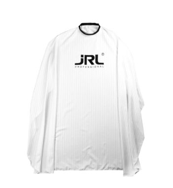 JRL Professional Cutting Cape white with Black Pin Strips