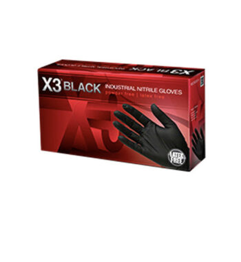 X3 Black Nitrile gloves 100