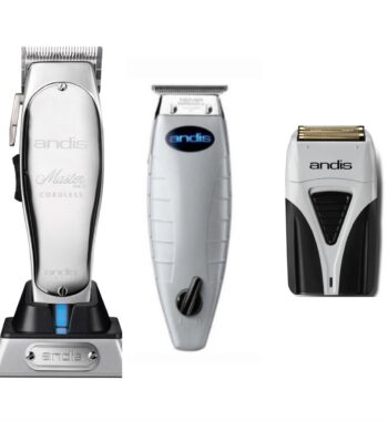 Andis 3pc Cordless Combo by ibs - Cordless Master, Cordless T-Outliner, Cordless Foil Shaver Plus