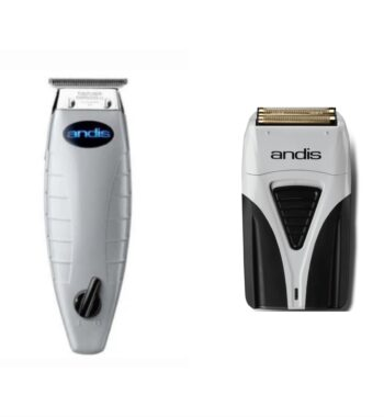 Andis 2pc Cordless Combo c by ibs - Cordless T-Outliner, Cordless Foil Shaver Plus