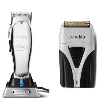 Andis 2pc Cordless Combo b by ibs - Cordless Master, Cordless Foil Shaver Plus