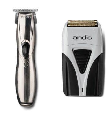 Andis 2pc Cordless Combo c by ibs - Cordless Slimline GTX, Cordless Foil Shaver Plus