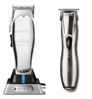 Andis 2pc Cordless Combo by ibs - Cordless Master, Cordless Slimline Pro GTX