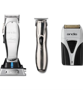 Andis 3pc Cordless Combo by ibs - Cordless Master, Cordless Slimline Pro GTX, Cordless Foil Shaver Plus
