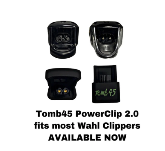 Tomb45 PowerClip fits Wahl Magic Clip Cordless - 2.0 edition for new charging ports