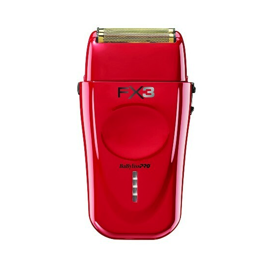 BaByliss PRO Red FX3 Cordless Double Foil Shaver FXX3S
