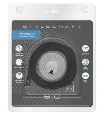 STYLECRAFT & GAMMA Magnetic USB-C Charging Cord