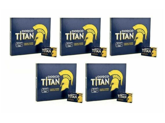 Dorco TITAN Double Edge Razor Blades 500ct 5 pack