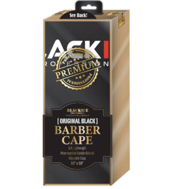 BlackIce Original Black Barber Cape #bve009BLA